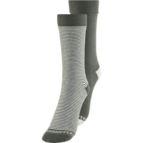 Craghoppers NosiLife Chaussettes Twin Pack Homme, charcoal/soft grey marl